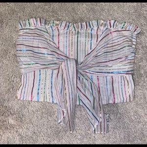 NWOT metallic striped tube top